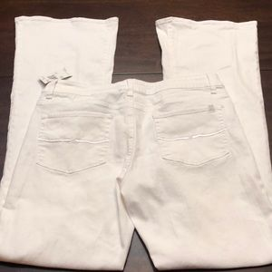 Buffalo David Bitton white flare jeans.  New!